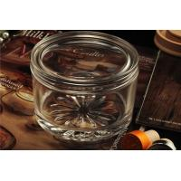 China PersonalisedEmpty Clear Glass Candle Jars With Lids , ASTM Test wholesale