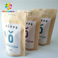 China No Pollution Heat Seal Food Packaging Stand Up Kraft Paper Zipper Bag For Nuts / Protein Powder wholesale