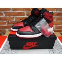 China tradingspring.cn Authentic Air Jordan 1 retro black and red on sale