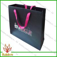 China Customized Luxury Brown Kraft Paper Bags For Shopping With Hang Rope wholesale