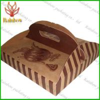 China Eco-friendly Paper Packaging Boxes Customizable With Handle For Pizza wholesale