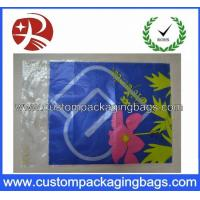 China Clear Die Cut Handle Plastic Eco Friendly Shopping Bags HDPE / LDPE HDB11 on sale