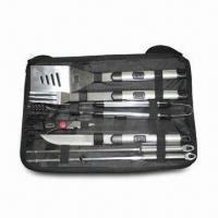China BBQ Tool Set, Comes with Carry Bag, Made of Polished Stainless Steel on sale
