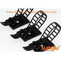 China Black Adjustable LED Strip Strap Fixation Clips / LED Rope Fasteners Plate on sale