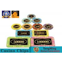 Personalized High Transmittance Crystal Casino Poker Chips Round Shape For for sale