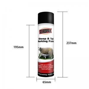 China Acrylic 500ml Aerosol Animal Marking Paint Spray ISO9001 wholesale
