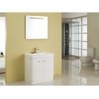 China Free Standing White Flush Color Square Sinks Bathroom Vanities ISO2000 Standard wholesale