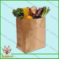 China Brown Kraft Custom Paper Bags Recyclable Durable For Fruit wholesale