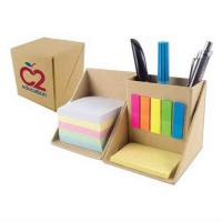 China Foldable Personalised Stationery Gifts Cardboard Box With Pen Holder , Sticky Flag wholesale