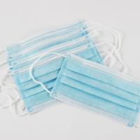 China Blue Disposable Non Woven Face Mask Three Layers Green Adults Mask wholesale