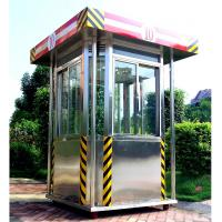 China Exterior Parking Security Guard Booths House Of Stainless Steel wholesale