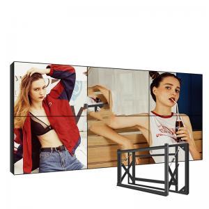 China Wall Mounted 60000h LCD Video Wall Display Bezel 1.7mm 700 Cd/M2 wholesale