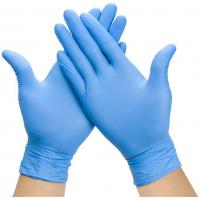 China Examination Disposable Medical Gloves , Nitrile Disposable Gloves For Hospital wholesale