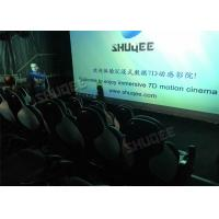 China Ergonomic 5D Theater System Motion Durable Seats In Commercial Center wholesale