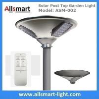 Quality 20W 2000lm Solar Post Top Garden Lights All In One Solar Pathway Garden Lamp with Post Pole for Driveway for sale