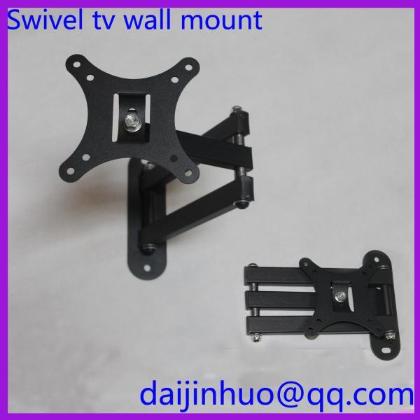 Lcd tv wall mount bracket with full motion swing out tilt for Motorized swing arm tv mount