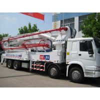 China 52m HOWO Truck-mounted Concrete Pump with Boom on sale