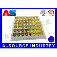China Gold Security Anti Counterfeiting Custom Hologram Sticker With Serial Number wholesale