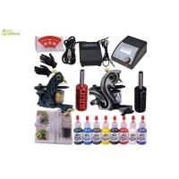 China 8 Color Ink Starter Tattoo Kits With Sterile Tattoo Needles Rotary Machine on sale