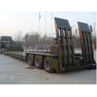 China Green Red Low Bed Semi Trailers With Hydraulic Mechanical Suspension wholesale