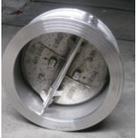 China API 594 Cast Steel Wafer Check Valves , Class 150 Double Disc Butterfly Check Valve wholesale