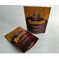 China Food Grade Plastic Pouches Packaging , Heat Seal Matt Stand Up Coffee Pouches wholesale