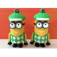 China Cute Minion Shaped PVC Usb Flash Disk Driver For Kids , Students wholesale