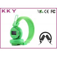 China Green Noise Cancelling Stereo Bluetooth Around Ear Headphones With LED Display wholesale
