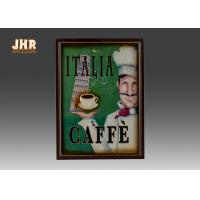 China Italia Cafe Wall Decor Decorative Wooden Wall Plaques Coffee House Wall Art Signs Home Decor on sale