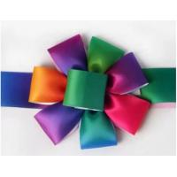 China Multi Color Diy Ribbon Rose , Handmade Satin Flowers Eco Friendly Material on sale