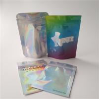 China Plastic Food Coffee Edible Holographic Makeup Bag Transparent Hologram Bags wholesale