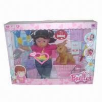Buy cheap 14-inch Doll Set with Sound, 54.5 x 11.0 x 40.5cm Box Size from wholesalers