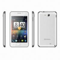 China 5-inch HD Capacitive Touch 3G WCDMA Dual-SIM Phones, Android 4.0.3/MT6577 (1.2GHz Dual-core)/Wi-Fi wholesale