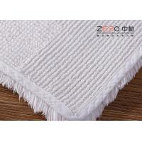Quality White Color Hotel Floor Towels 100% Cotton Non Skid With Embossed Logo for sale