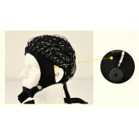 China 24-inch Lead Wire EEG Hat 10 20 Electrode Placement System , Black wholesale