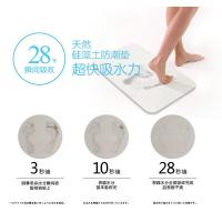 China Natural Diatomaceous Earth Bath Mat , Water Absorbing Bath Mat 450*350*9mm on sale