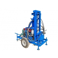 China 200m 450rpm Portable Hydraulic Water Well Drilling Rig For House Yard wholesale
