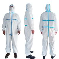 China PPE Disposable Protective Suit , Chemical Protective Coveralls Clinical Mutiple Sizes wholesale