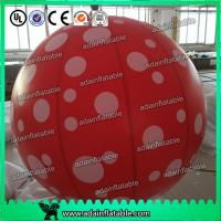 China Event Party Hanging Decoration Red 1m Inflatable Spot Balloon With LED Light wholesale