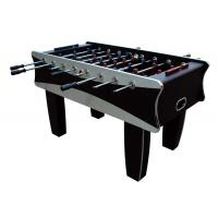 Black / Silver Indoor 5FT Soccer Table MDF Football Table For Family 61 KG
