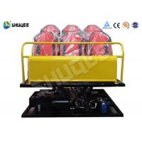China 6 Seats Yellow 6-DOF Hydraulic Platform Type 7D Cinema System All the equipment wholesale