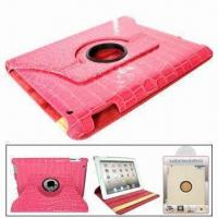 China Rotating Leather Case for iPad 2, with Function of Stand, Protects from Scratches wholesale