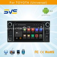 China Android 4.4 car dvd player GPS navigation for Toyota Universal with BT ipod 3G+mirror wifi wholesale