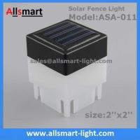 2''x 2'' Inch Square Solar Fence Post Cap Light For Iron Fences Pool Boundary
