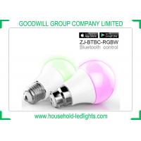 Quality E27 B22 Socket Smart LED Lights Bluetooth Control 120 Degree Beam Angle With Colorful Cover for sale