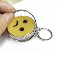 China Smiling Face Custom Logo Keychains Yellow Circle With Eco-friendly Metal wholesale