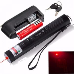 China 301 Adjustable 650nm Laser Pointer Pen Focuing Red Laser Pen 18650 Battery wholesale