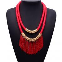 China Fashionable latest new design fashion women accessories fashion jewelry tassel necklace wholesale