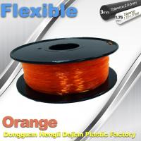 China Orange Flexible 3D Printer Filament Consumables With Great Adhesion wholesale