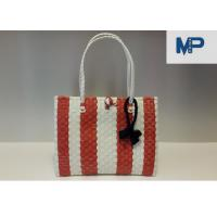 China Portable Handmade PP Woven Basket for Storage , Customized Color wholesale